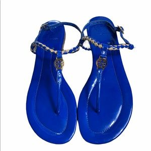 Tory Burch Blue T Strap Sandals 8